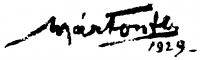 Márton Ferenc aláírása