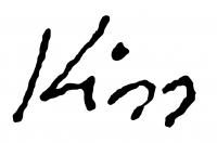 Kiss Ilona aláírása