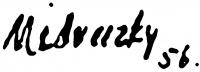 Medveczky Jenő aláírása