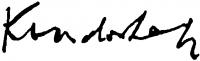 Kondor Lajos aláírása