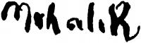 Mihalik, Dániel Signature