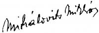 Mihalovits Miklós aláírása