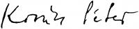 Kovács Péter aláírása