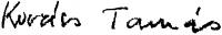 Kovács Tamás aláírása