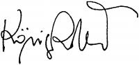 König Róbert aláírása