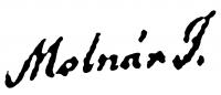 Molnár József aláírása