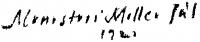 Monostori Moller Pál aláírása