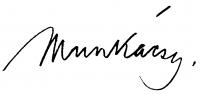 Munkácsy Mihály aláírása