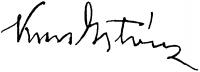 Kun István aláírása