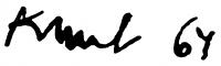 Kunt Ernő aláírása