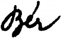 Bér Dezső aláírása
