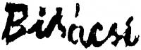 Bikácsi Daniela aláírása