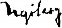 Nyilasy, Sándor Signature