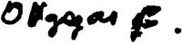 Olgyay Ferenc aláírása