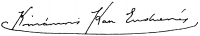 Komáromi-Kacz Endréné (Kiss, Sarolta) aláírása