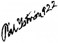 Pál István aláírása