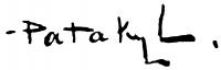 Pataky László aláírása
