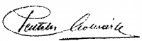 Pentelei Molnár János aláírása