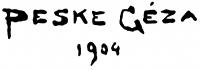 Peske Géza aláírása
