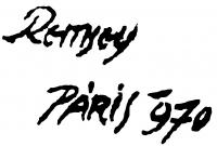 Remsey Jenő György aláírása
