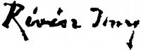 Révész Imre aláírása