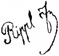 Rippl-Rónai, József Signature