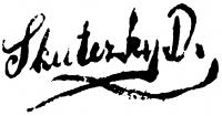 Skuteczky Döme aláírása