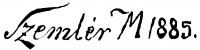 Szemlér Mihály aláírása