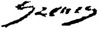 Szenes Fülöp aláírása