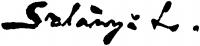 Szlányi, Lajos Signature