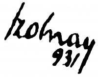 Szolnay Sándor aláírása