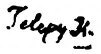 Telepy Károly aláírása