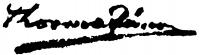 Thorma János aláírása