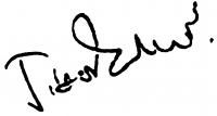 Tibor Ernő aláírása