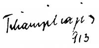 Tihanyi Lajos aláírása
