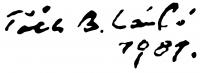 Tóth B. László aláírása