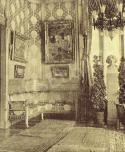 A zeneszalon Kohner Adolf palotájában Paul Gauguin, Vincent Van Gogh és Claude Monet képeivel, 1913 körül