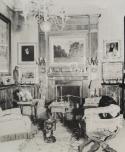 A dohányzószoba a budapesti Hunyadi János úti Hatvany-villában, többek között Paál László, Eugéne Delacroix, Gustave Courbet, Camille Pissarro és Théodore Géricault festményeivel, 1930-as évek