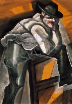 Scheiber Hugó - Kalapos férfi | 20. Aukció aukció / 51 tétel