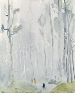 Vadász Endre - Vadászok a téli erdőben