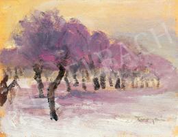 Tornyai János - Téli táj lila fényekkel