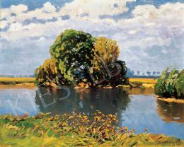Bosznay István - Nyári folyópart, 1916