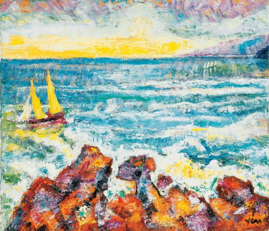 Vén, Emil - Beach with Sailing Boats | 31st Auction auction / 109 Item