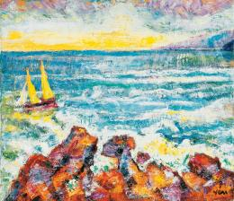 Vén, Emil - Beach with Sailing Boats