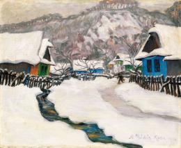Kádár Géza - Tél Nagybányán, 1916