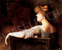 Basch Gyula - Márkus Emília a vörös szalonban, 1904