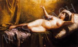 Spányik Kornél - Női akt (Danaé)