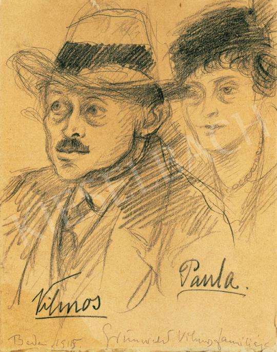 Rippl-Rónai József - Grünwald Vilmos és Paula, 1915   31. Aukció aukció / 155 tétel