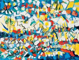 Rozsda, Endre - Red-Blue-Yellow Abstracted Landscape