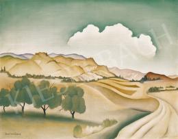 Basilides Barna - Dombos táj, 1930-as évek